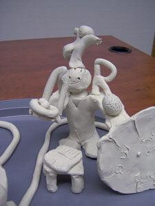 clay model with Davis® dyslexia program