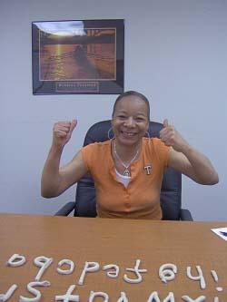lady happy with Davis® dyslexia program